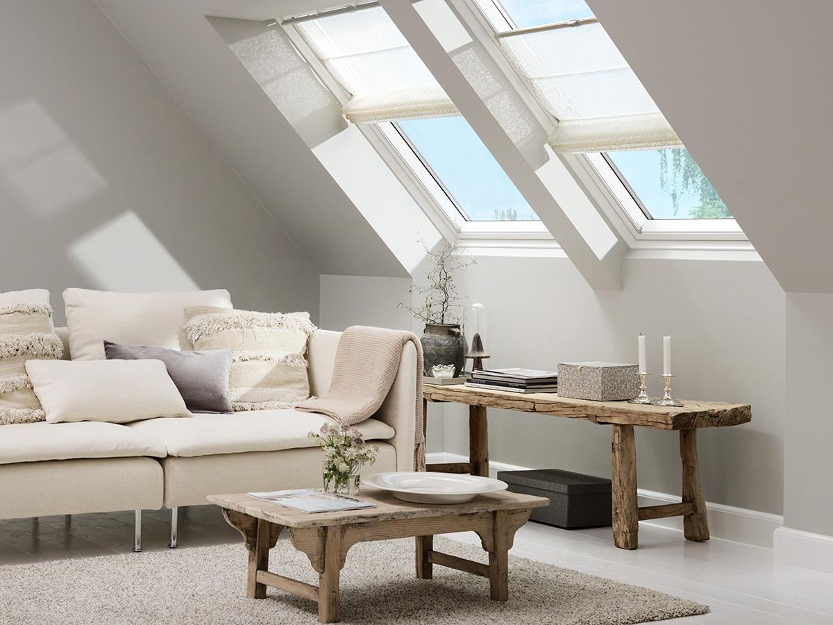 Wohnzimmer In Erdfarben Unter Dem Dach Bauwiki